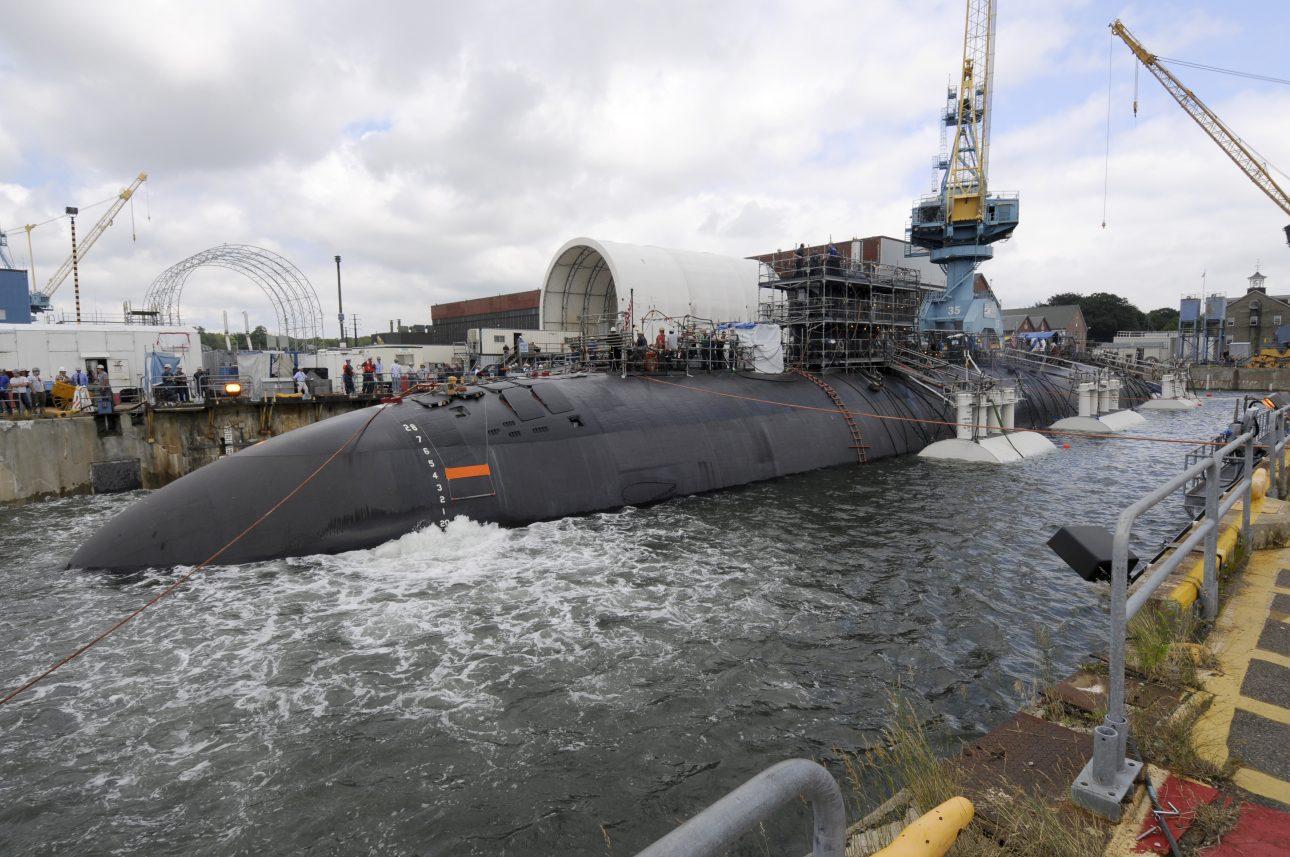 Portsmouth Naval Shipyard with USS San Juan - Los Angeles Class Submarine